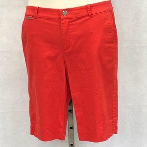 Lauren Active red orange Bermuda walking shorts